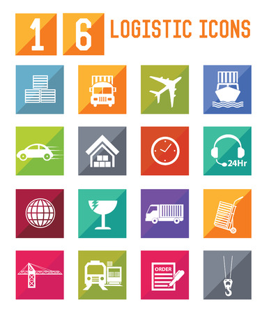 loading dock: Logistic and storage icons,vector Illustration