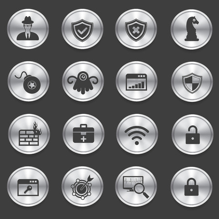 Virus computer and Security computer icons,vector Vector