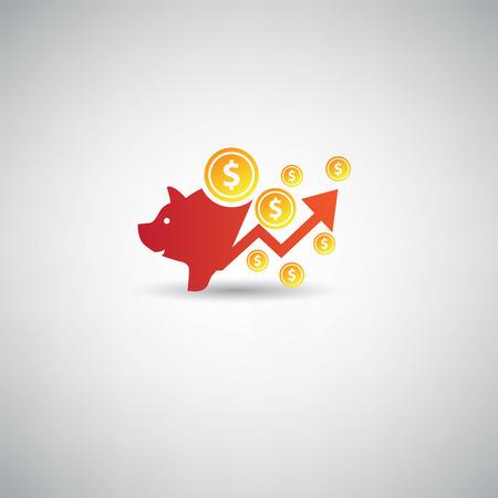 dime: Saving money symbol,vector Illustration