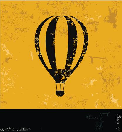 Balloon symbol,Grunge vector Vector