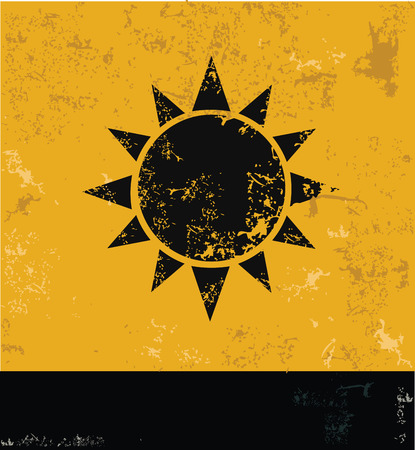 synopsis: Sun symbol,Grunge vector Illustration