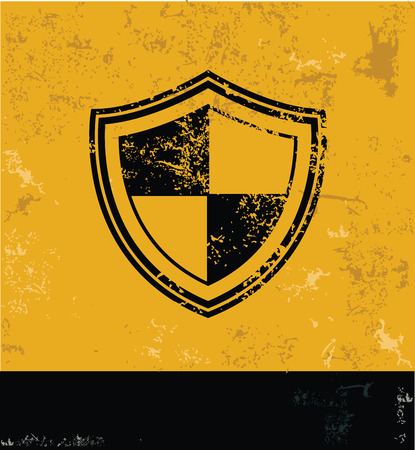 Security symbol,grunge vector Vector