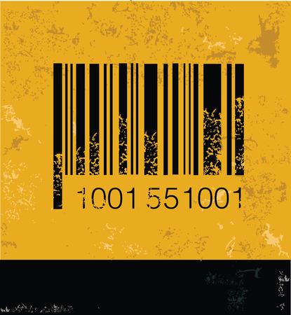 Barcode symbol,grunge vector Vector