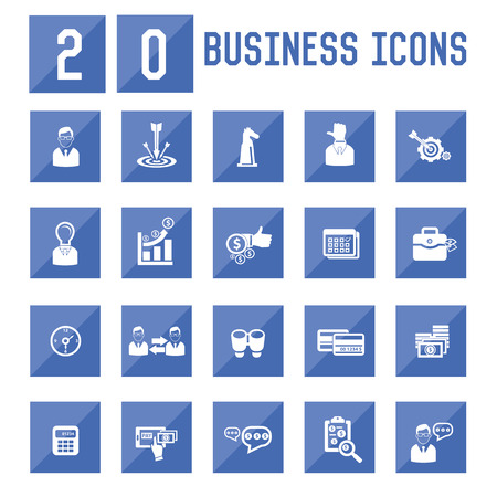 20 Business icon set,vector Vector