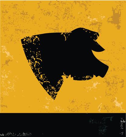 pandemic: Pig symbol,Grunge vector