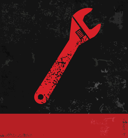 screw key: Repair symbol Illustration
