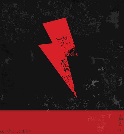 Thunder storm symbol Illustration