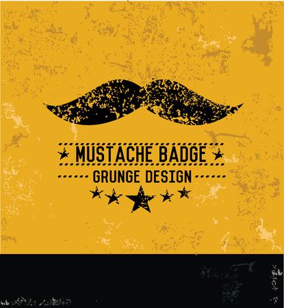 Mustache symbol,grunge design Stock Vector - 29578498
