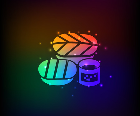 Shushi symbol,Rainbow vector Vector