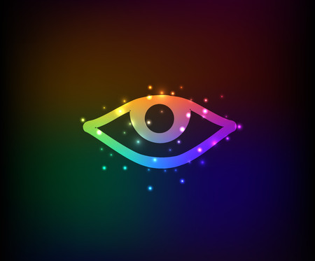 Eye symbol,Rainbow vector Vector