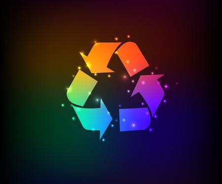 Recycle symbol,Rainbow vector Vector