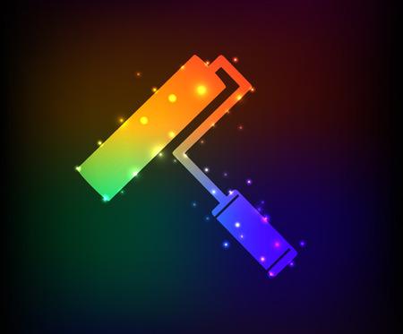 bolster: Paint symbol,Rainbow vector