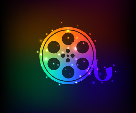 Film symbol,Rainbow vector Vector