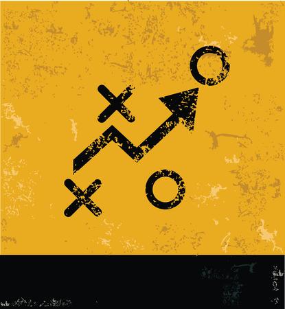 Strategy symbol,grunge vector