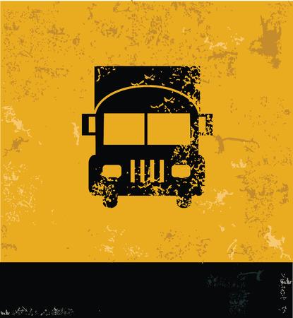 Logistic,car symbol,grunge vector Vector