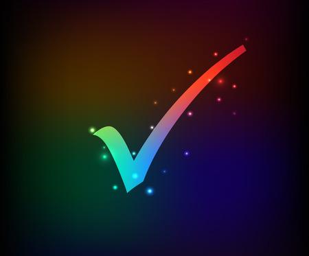 Check mark symbol,Rainbow vector Vector