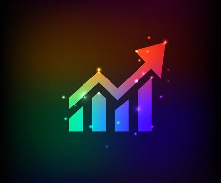 Graph symbol,Rainbow vector Vector