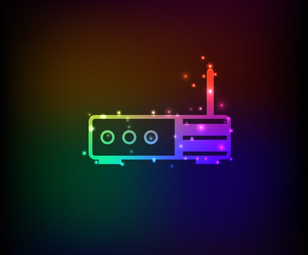 router: Router symbol,Rainbow vector