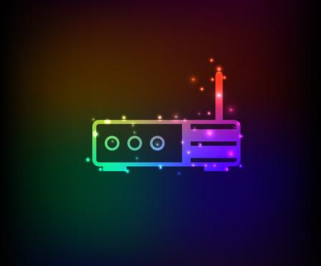 dsl: Simbolo Router, Rainbow vettoriale Vettoriali