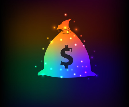 Money symbol in Rainbow Vector