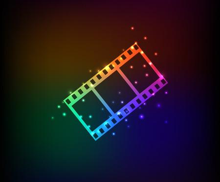 Film symbol in Rainbow Vector