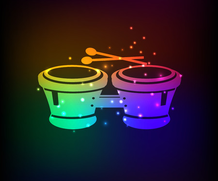Drum symbol,Rainbow vector Vector