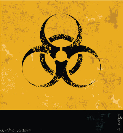 nuclear symbol: Peligro, S�mbolo nuclear, grunge vector