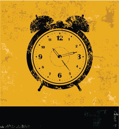 arousing: Clock symbol,grunge design