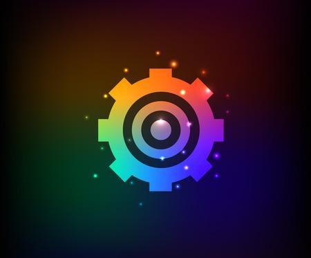 Gear-symbool in de Regenboog