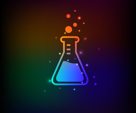 boils: Science symbol in Rainbow Illustration