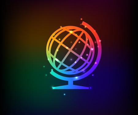 Global symbol,Rainbow vector Vector