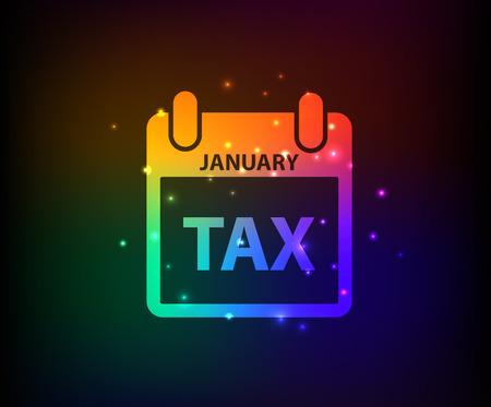 shackle: Tax symbol,Rainbow vector