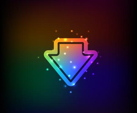 arco iris vector: S�mbolo de Down, vector del arco iris