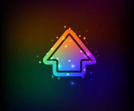 Up symbol,Rainbow vector Vector