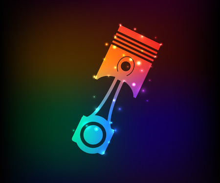 Engine symbol in Rainbow Vector