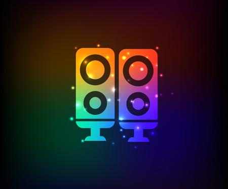 Sound symbol,Rainbow vector Vector