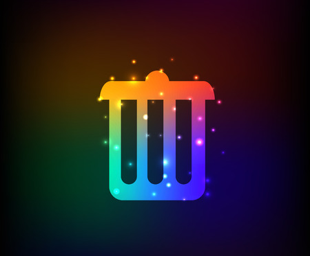 arco iris vector: S�mbolo de un contenedor, vector del arco iris Vectores