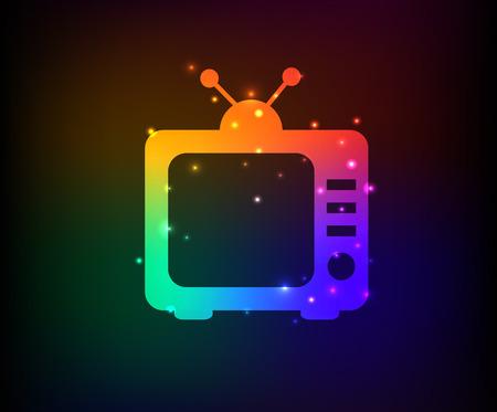 Television symbol,Rainbow vector Vector