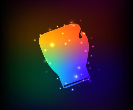 Boxing symbol,Rainbow vector Vector