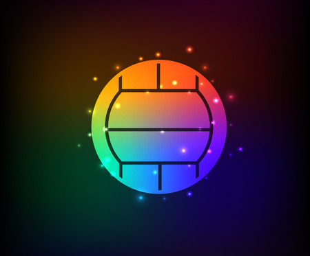 Volleyball symbol,Rainbow vector Vector
