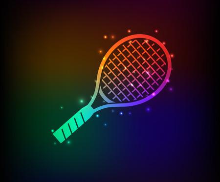 Tennis symbol,Rainbow vector Vector