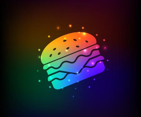 salat: Hamburger symbol,Rainbow vector