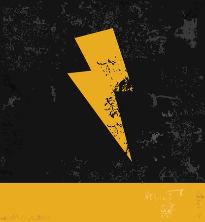 Thunder storm symbol,grunge vector Vector