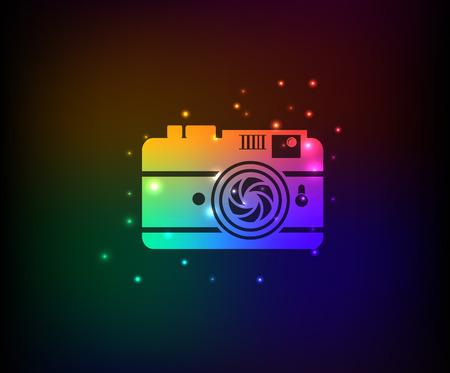 Camera symbol,rainbow vector Vector
