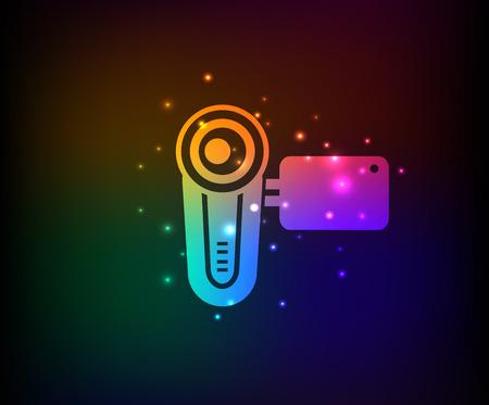 Video symbol,rainbow vector Vector