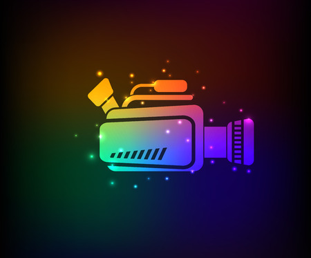 Video symbol,rainbow vector Vector