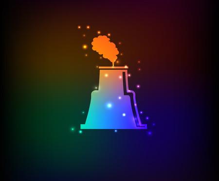 nuclear symbol: S�mbolo nuclear, vector de arco iris