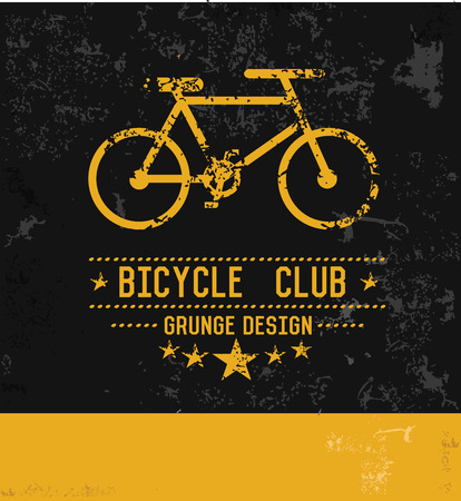 Bicycle symbol,grunge vector Vector