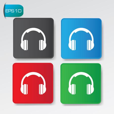 earphone: Earphone buttons,vector Illustration