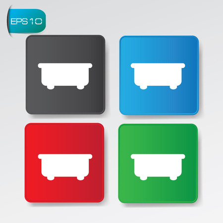 hot tub: Bathroom buttons,vector